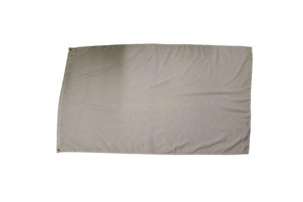 WHITE BLANC 3' X 5' FEET FLAG BANNER