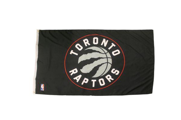 TORONTO RAPTORS LOGO BLACK 3' X 5' FEET FLAG BANNER .