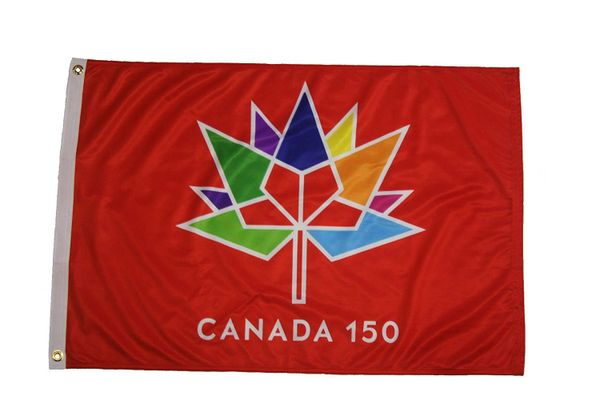 CANADA 150 YEAR ANNIVERSARY 1867 - 2017 RED 2' X 3' FEET FLAG BANNER .. NEW