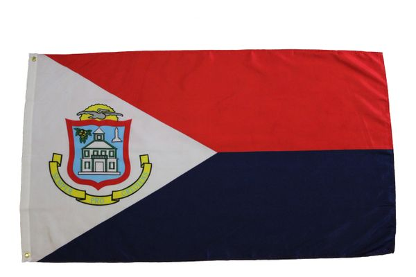 SINT MAARTEN LARGE 3' X 5' FEET COUNTRY FLAG BANNER