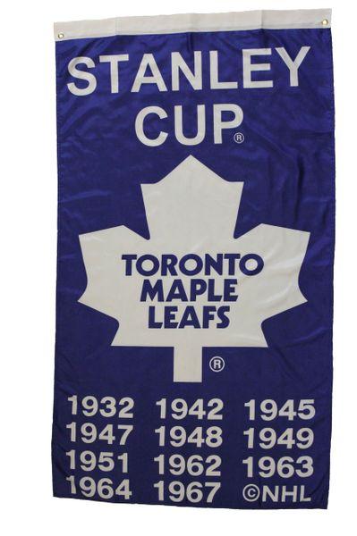 STANLEY CUP TORONTO MAPLE LEAFS NHL HOCKEY LOGO 5' X 3' FEET BANNER FLAG