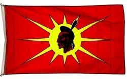 MOHAWK OKA Native 3' X 5' Feet FLAG BANNER