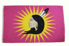 MOHAWK IEWERAS PINK WOMEN' S WARRIOR 3' X 5' Feet FLAG