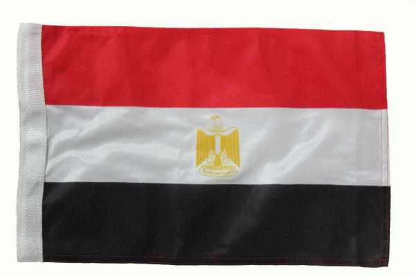 """EGYPT 12"""" X 18"""" INCH COUNTRY HEAVY DUTY WITH SLEEVE WITHOUT STICK CAR FLAG"""