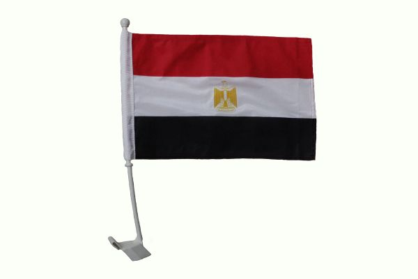 "EGYPT 12"" X 18"" INCH COUNTRY FLAG HEAVY DUTY WITH STICK CAR FLAG"