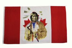 CANADA INDIAN CHIEF 3' X 5' FEET PICTURE FLAG BANNER