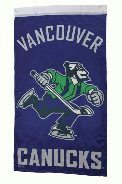 VANCOUVER CANUCKS - JOHNNY CANUCK Logo 5' X 3' FEET BANNER