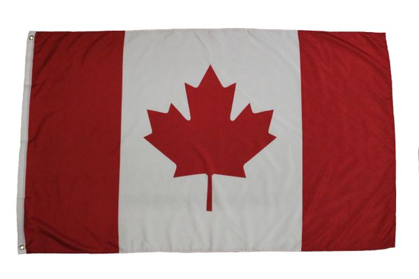 CANADA LARGE 3' X 5' FEET COUNTRY FLAG BANNER .. NEW AND IN A PACKAGE