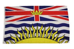 BRITISH COLUMBIA Large 3' X 5' Feet Provincial FLAG BANNER