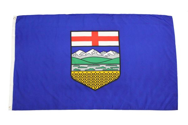 ALBERTA Large 3' X 5' Feet Provincial FLAG BANNER