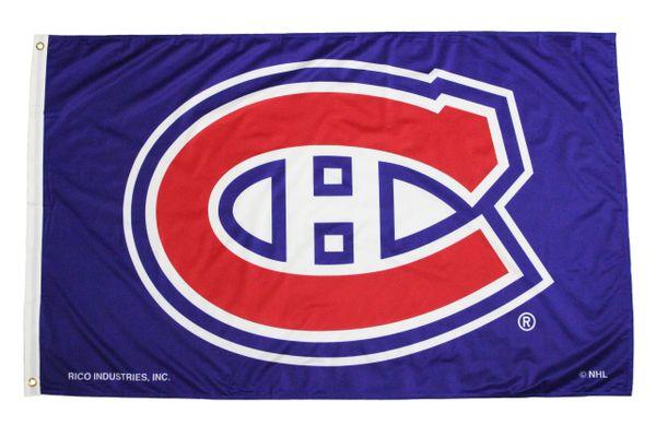 MONTREAL CANADIENS NHL Logo, Blue Background 3' X 5' Feet FLAG BANNER