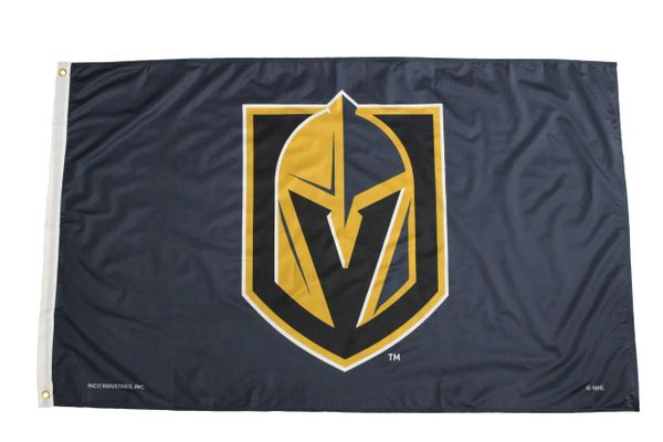VEGAS GOLDEN KNIGHTS Black NHL Logo 3' X 5' Feet FLAG BANNER