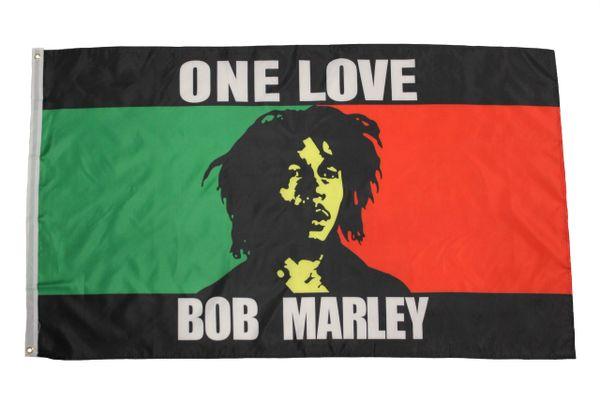 ONE LOVE BOB MARLEY 3' X 5' Feet FLAG BANNER