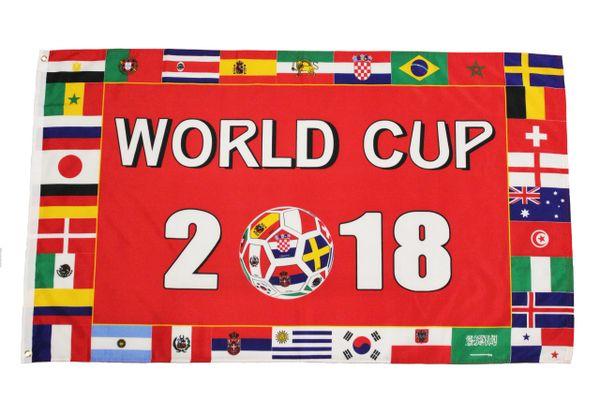 WORLD CUP 2018 & Countries Flags 3' X 5' FEET FLAG BANNER