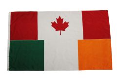 CANADA - IRELAND LARGE 3' X 5' Feet Country FLAG BANNER