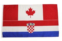 CANADA - CROATIA LARGE 3' X 5' Feet Country FLAG BANNER