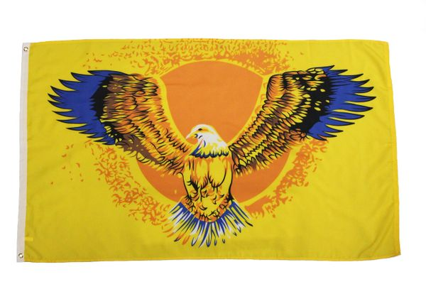 FLYING EAGLE 5' X 3' Feet Picture FLAG BANNER