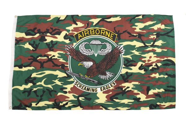 AIRBORNE SCREAMING EAGLES 5' X 3' Feet Picture FLAG BANNER