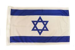"ISRAEL 12"" X 18"" INCHES COUNTRY HEAVY DUTY WITH SLEEVE WITHOUT STICK CAR FLAG .. NEW AND IN A PACKAGE"
