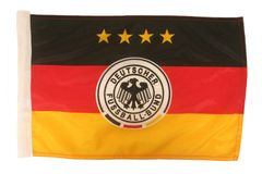 "Germany 4 Stars, Deutscher Fussball - Bund Logo FIFA World Cup Heavy Duty Car Flag 12""X18"" With Sleeve Without Stick"