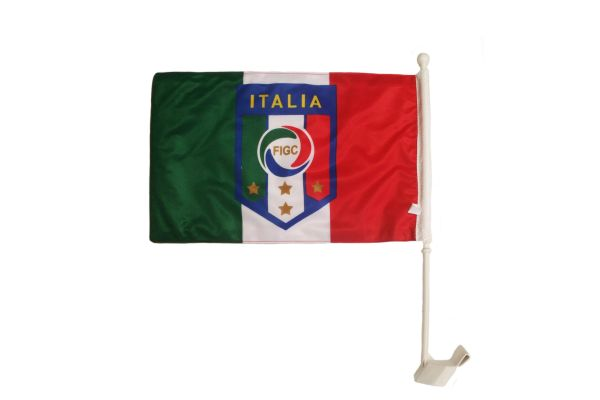 """ITALY ITALIA 12"""" X 18"""" INCHES COUNTRY HEAVY DUTY WITH STICK CAR FLAG .. NEW AND IN A PACKAGE"""