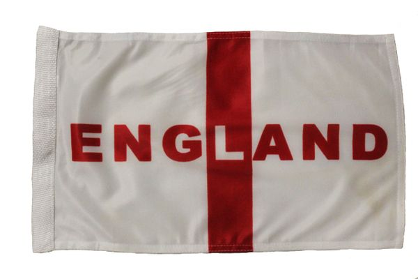 "ENGLAND Vertical - 12"" X 18"" INCHES COUNTRY HEAVY DUTY WITH STICK CAR FLAG .. NEW AND IN A PACKAGE"