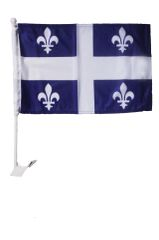 """QUEBEC 12"""" X 18"""" INCHES PROVINCIAL HEAVY DUTY WITH STICK CAR FLAG .. NEW AND IN A PACKAGE"""