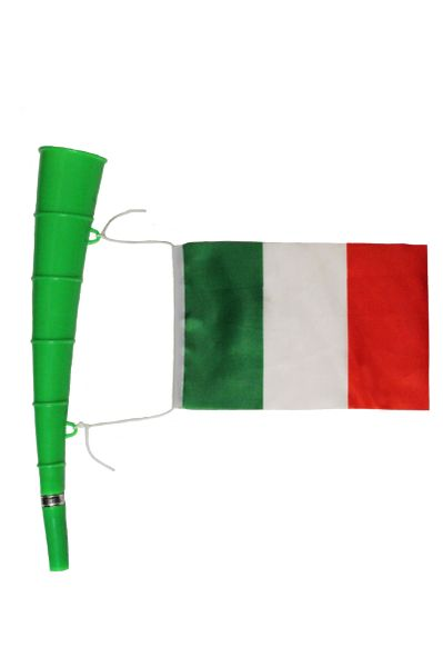 Italy - Country Flag,Green Horn Toy. High Quality New