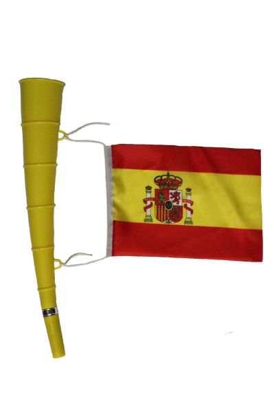 Spain - Country Flag,Yellow Horn Toy. High Quality New