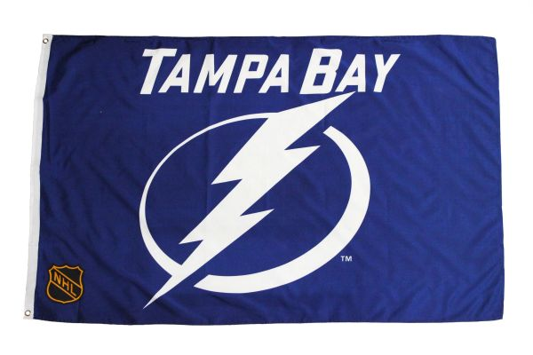 Tampa Bay Blue NHL Licensed Hockey Logo 3 x 5 Feet Flag Banner Great Quality New