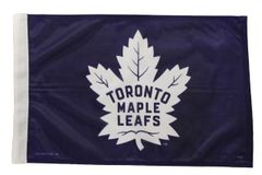 """- NEW - TORONTO MAPLE LEAFS 12"""" X 18"""" INCHES NHL HOCKEY LOGO HEAVY DUTY WITH SLEEVE WITHOUT STICK CAR FLAG .."""