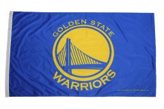GOLDEN STATE WARRIORS NBA LOGO - YELLOW BACKGROUND 3' X 5' FEET Flag Banner (RICO Industries INC)