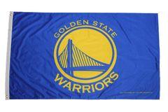 GOLDEN STATE WARRIORS NBA LOGO - YELLOW BACKGROUND 3' X 5' FEET Flag Banner (RICO Industries INC)