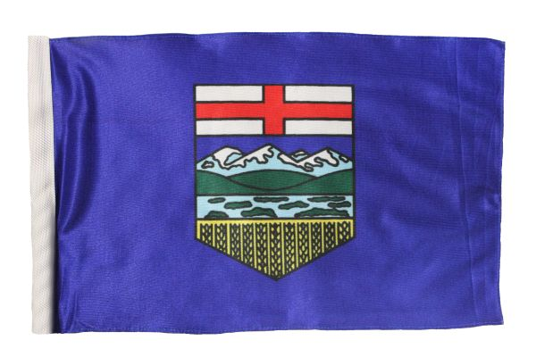 "ALBERTA - CANADA PROVINCIAL HEAVY DUTY CAR FLAG 12"" X 18"" INCH WITH SLEEVE WITHOUT STICK"