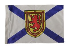 "NOVA SCOTIA - CANADA PROVINCIAL HEAVY DUTY CAR FLAG 12"" X 18"" INCH WITH SLEEVE WITHOUT STICK"