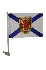 NOVA SCOTIA - CANADA PROVINCIAL HEAVY DUTY CAR FLAG 12' X 18' INCH SLEEVE STICK