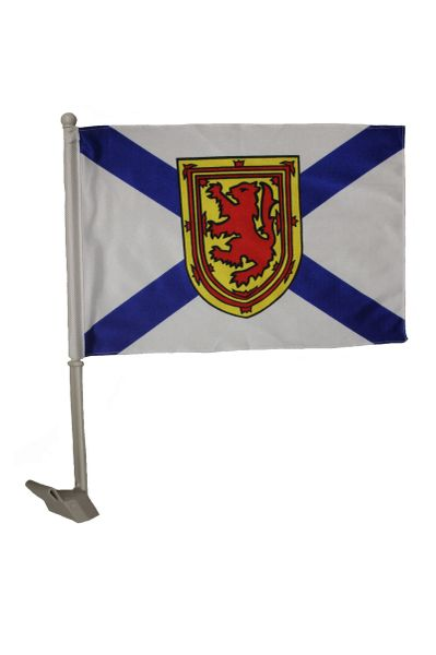 NOVA SCOTIA - CANADA PROVINCIAL HEAVY DUTY CAR FLAG 12' X 18' INCH SLEEVE STICK