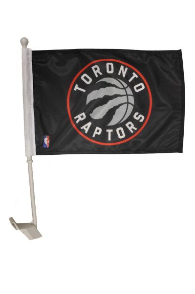 "TORONTO RAPTORS - 12"" X 18"" INCHES NBA FLAG HEAVY DUTY WITH CAR STICK FLAG"