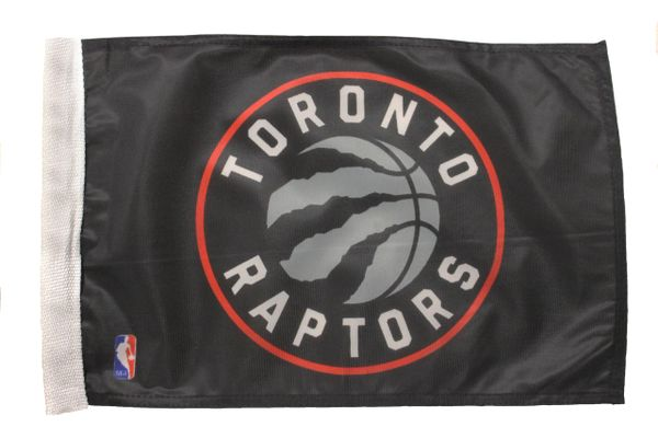 "TORONTO RAPTORS - 12"" X 18"" INCHES NBA FLAG WITH SLEEVE WITHOUT STICK"