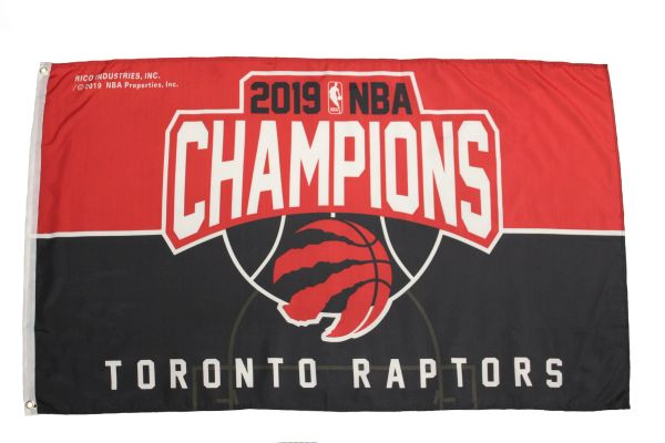 TORONTO RAPTORS 2019 NBA CHAMPIONS Licensed 3' X 5' FEET FLAG BANNER