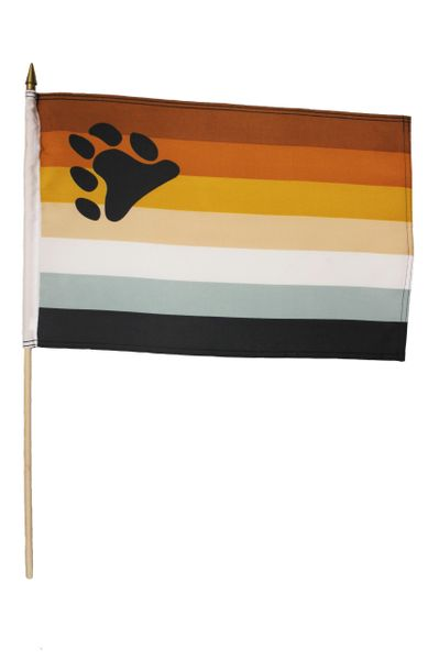 "BEAR Pride 12"" x 18"" Inch Flag With 2 Feet Wooden Stick Great Quality New …"