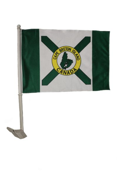 "CAPE BRETON ISLAND CANADA Heavy Duty Car Flag 12"" X 18"" With Stick New …"