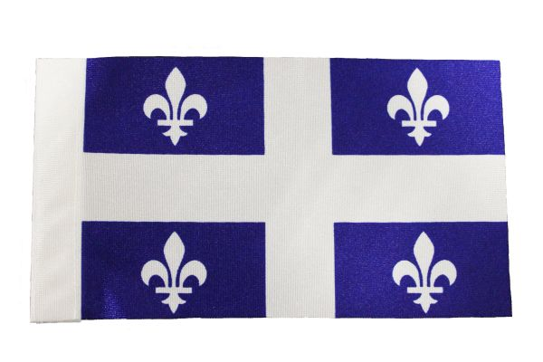 "Quebec Canada Provincial 9"" x 6"" Inch CAR Antenna Flag Polyester New …"