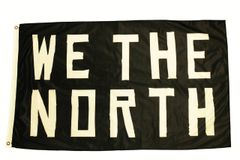 WE THE NORTH - TORONTO RAPTORS 3 x 5 FEET FLAG BANNER.