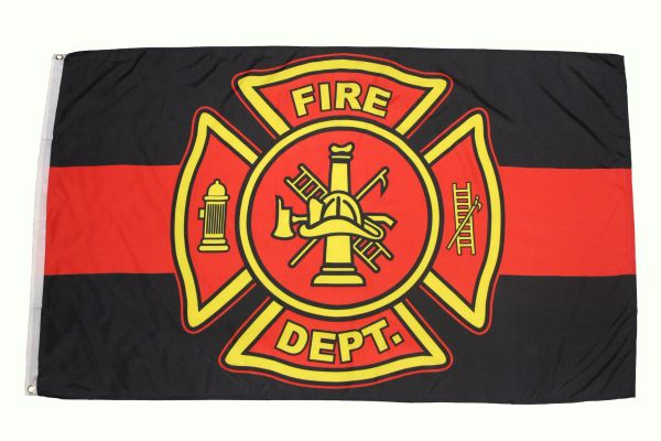 FIRE DEPT. ( FIRE DEPARTMENT ) 3' X 5' FEET PICTURE FLAG BANNER