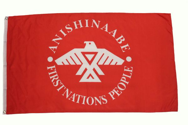 ANISHNAABE FIRST NATIONS PEOPLE 3' X 5' FEET PICTURE FLAG BANNER