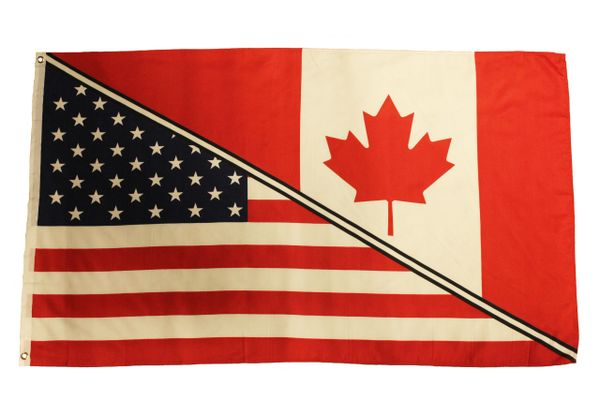 CANADA / USA 3' X 5' Feet FLAG BANNER