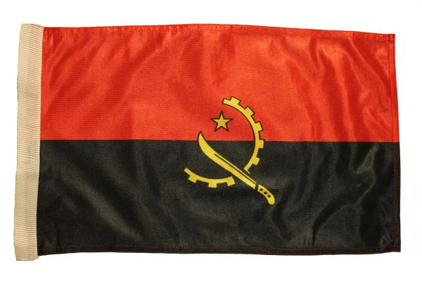 "ANGOLA Country 12"" X 18"" Inch FLAG BANNER With Sleeve Without STICK"