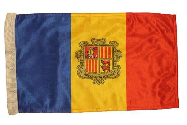"""ANDORRA Country 12"""" X 18"""" Inch FLAG BANNER With Sleeve Without STICK"""