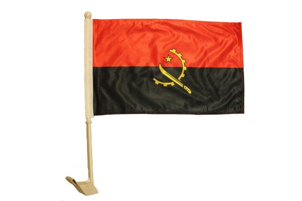 "ANGOLA Country 12"" X 18"" Inch CAR FLAG BANNER"